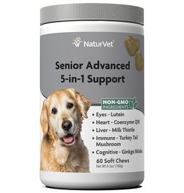 NATURVET NATURVET DOG SOFT CHEWS SENIOR 5-IN-1 SUPPORT 120CT