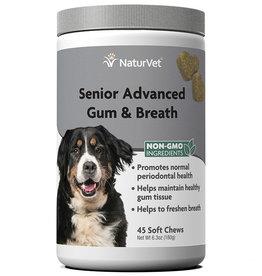NATURVET NATURVET DOG SOFT CHEWS SENIOR GUM & BREATH 45CT