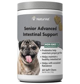 NATURVET NATURVET DOG SOFT CHEWS SENIOR INTESTINAL 120CT