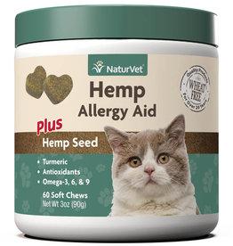 NATURVET NATURVET HEMP ALLERGY AID CAT 60CT