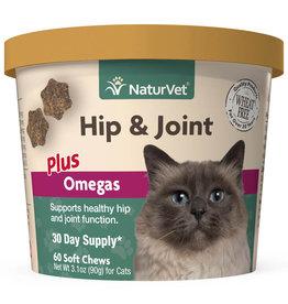 NATURVET NATURVET HIP & JOINT PLUS OMEGA CAT 60CT