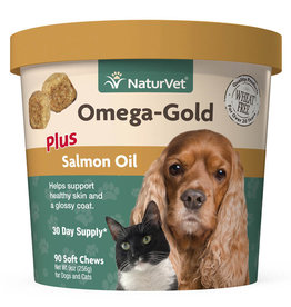 NATURVET NATURVET OMEGA GOLD PLUS SALMON OIL 90CT