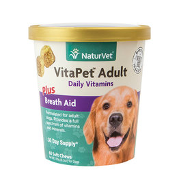 NATURVET NATURVET VITAPET ADULT PLUS BREATH AID SOFT CHEW 60CT