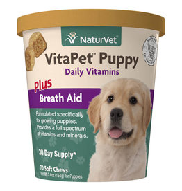 NATURVET NATURVET VITA PET PUPPY PLUS BREATH AID SOFT CHEW 70CT