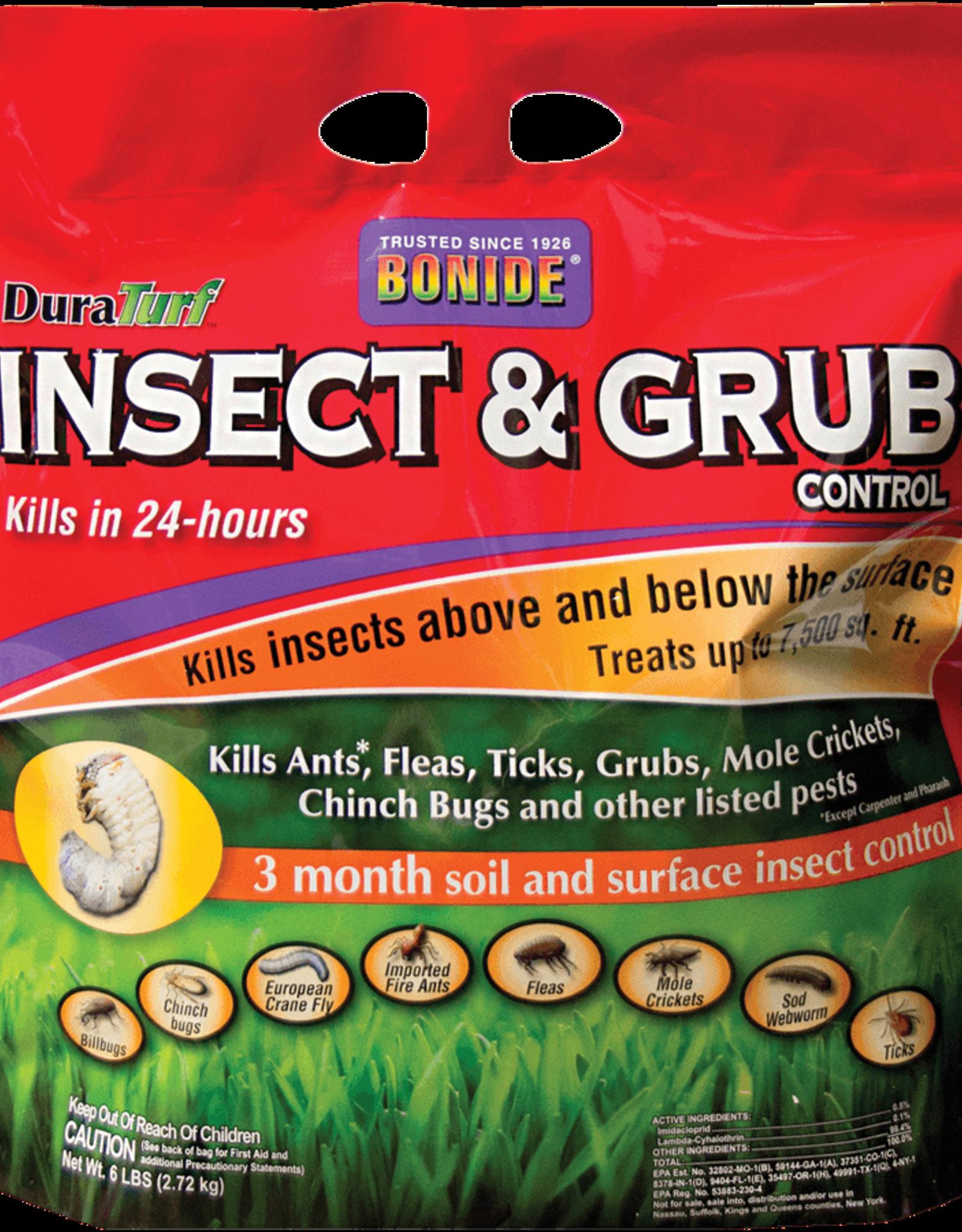 BONIDE PRODUCTS INC     P BONIDE INSECT & GRUB CONTROL DURATURF 6LBS