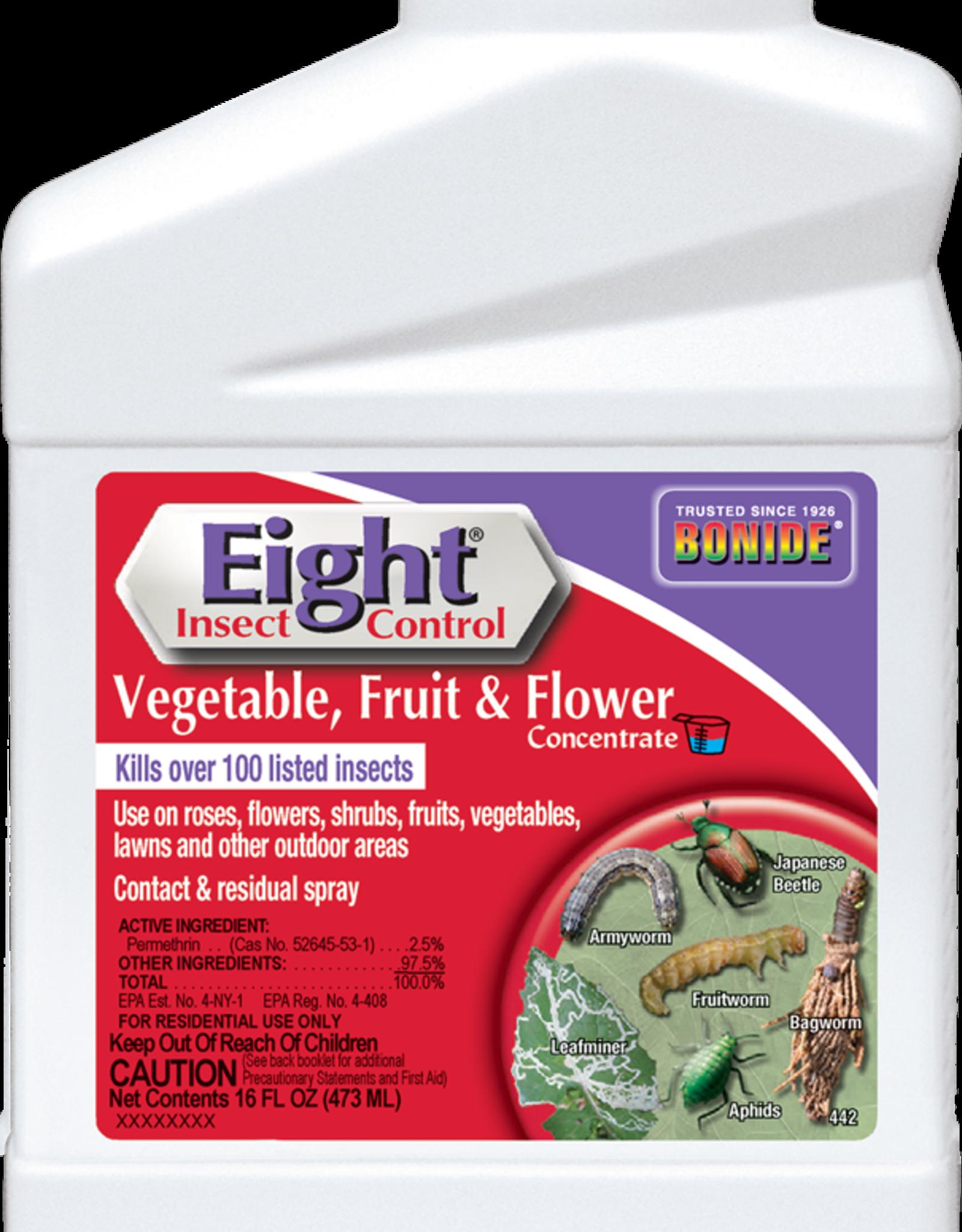 BONIDE PRODUCTS INC     P BONIDE EIGHT INSECT CONTROL VEGETABLE/FRUIT/FLOWER CONC 16OZ
