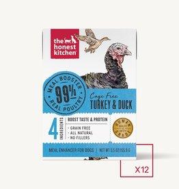 THE HONEST KITCHEN HONEST KITCHEN DOG BOOSTER TURKEY & DUCK MEAL 5.5OZ