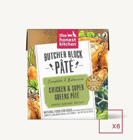THE HONEST KITCHEN HONEST KITCHEN DOG BUTCHER BLOCK PATE CHICKEN & SUPER GRAINS 10.5OZ CASE OF 6