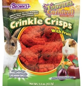 F.M. BROWNS INC - PET TROPICAL CARNIVAL CRINKLE CRISPS W/FRUIT