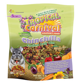 F.M. BROWNS  PET BROWN'S TROPICAL CARNIVAL NATURAL CHINCHILLA 3LBS