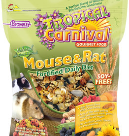 F.M. BROWNS  PET BROWN'S TROPICAL CARNIVAL NATURAL MOUSE & RAT 2LBS