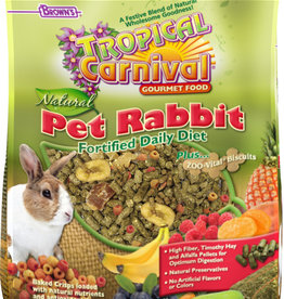 F.M. BROWNS  PET BROWN'S TROPICAL CARNIVAL NATURAL RABBIT 4LBS