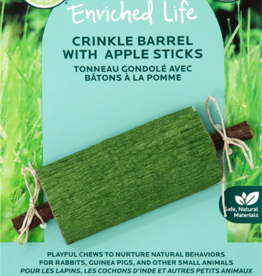 OXBOW PET PRODUCTS OXBOW CRINKLE BARREL W/ APPLE STICK