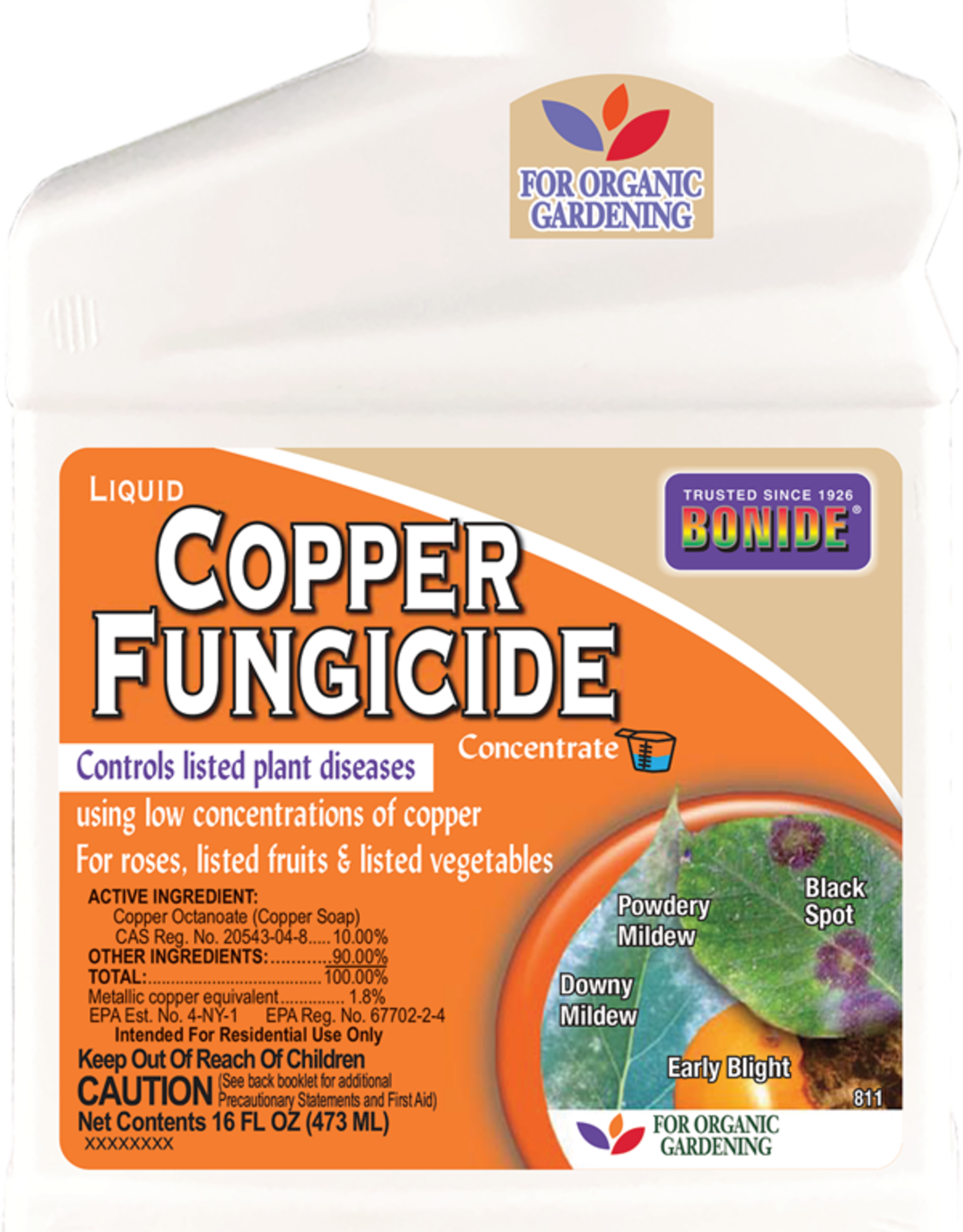 BONIDE PRODUCTS INC     P BONIDE COPPER FUNGICIDE CONC 16OZ
