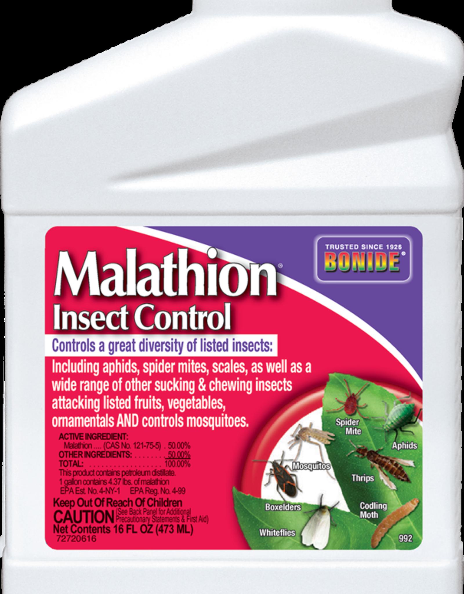BONIDE PRODUCTS INC     P BONIDE MALATHION INSECT CONTROL 16OZ
