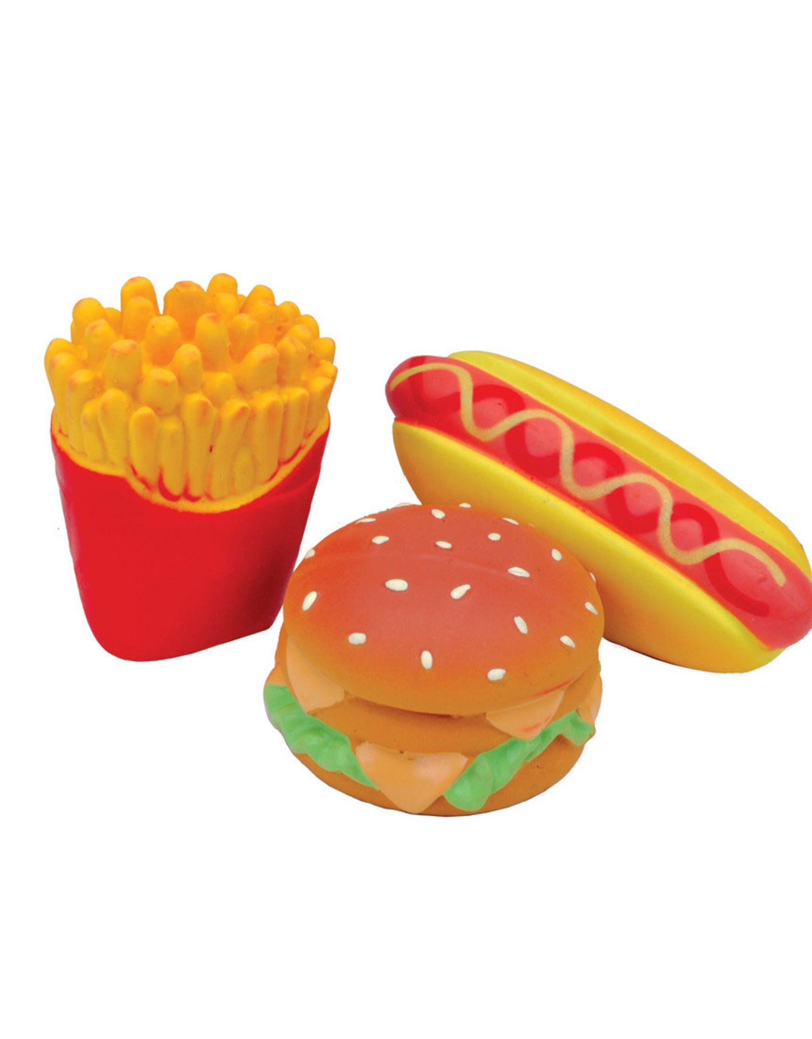 COASTAL PET PRODUCTS INC DOG TOY CSTL LI'L PALS BURGER, FRIES & HOTDOG