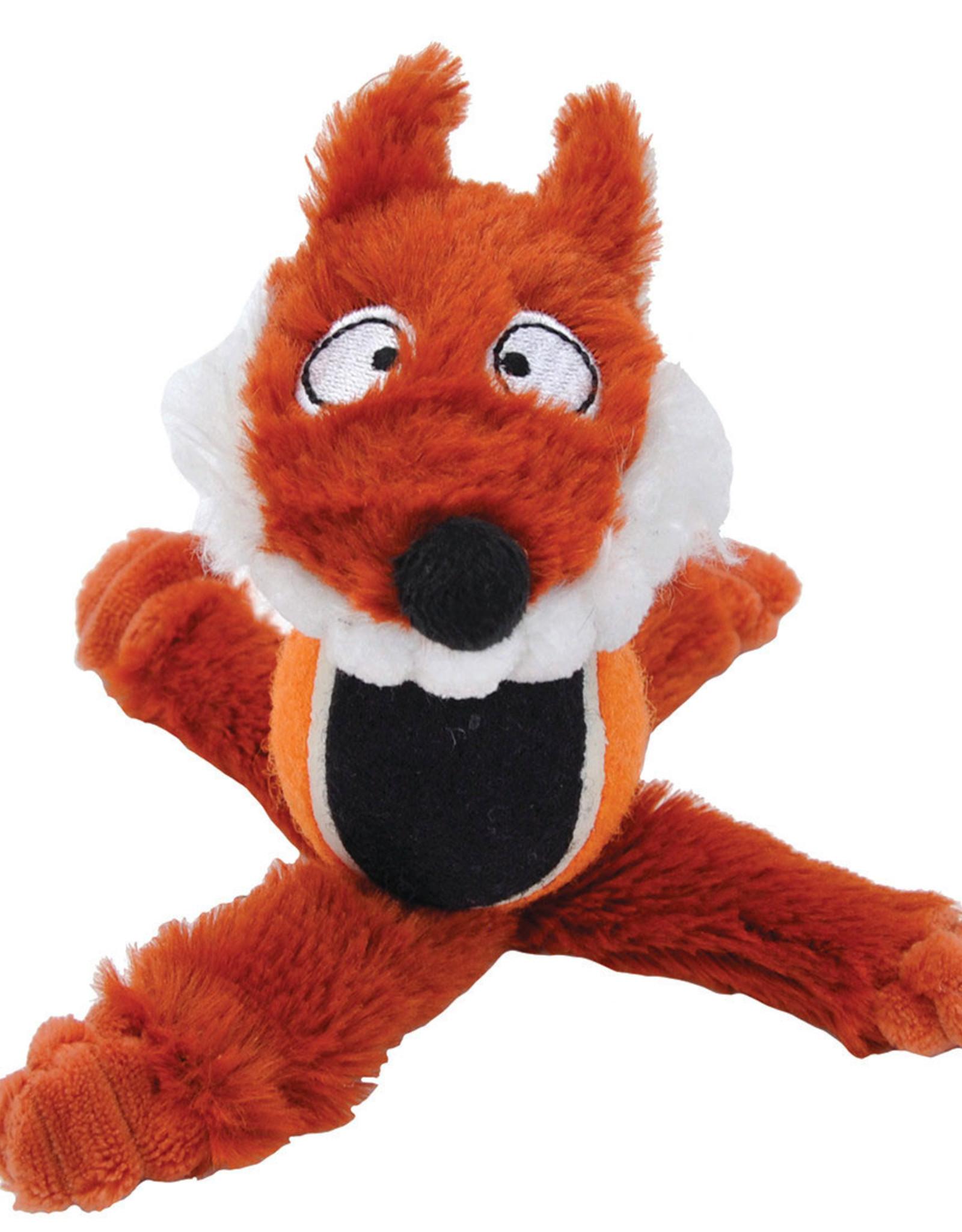 COASTAL PET PRODUCTS INC DOG TOY CSTL LI'L PALS PLUSH FOX W/TENNIS BALL