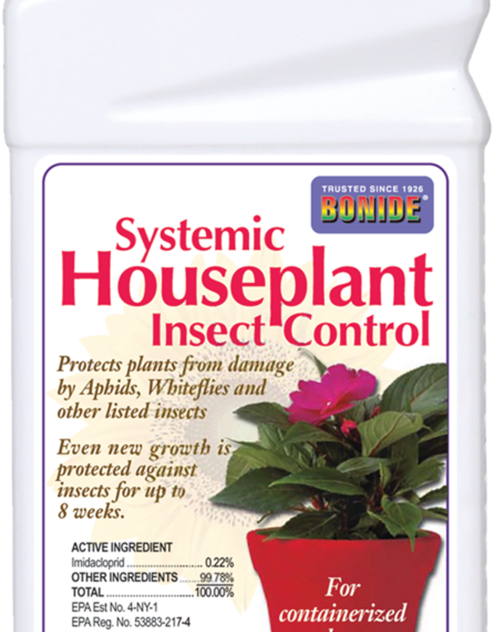 BONIDE PRODUCTS INC     P BONIDE SYSTEMIC HOUSEPLANT INSECT CONTROL 8OZ