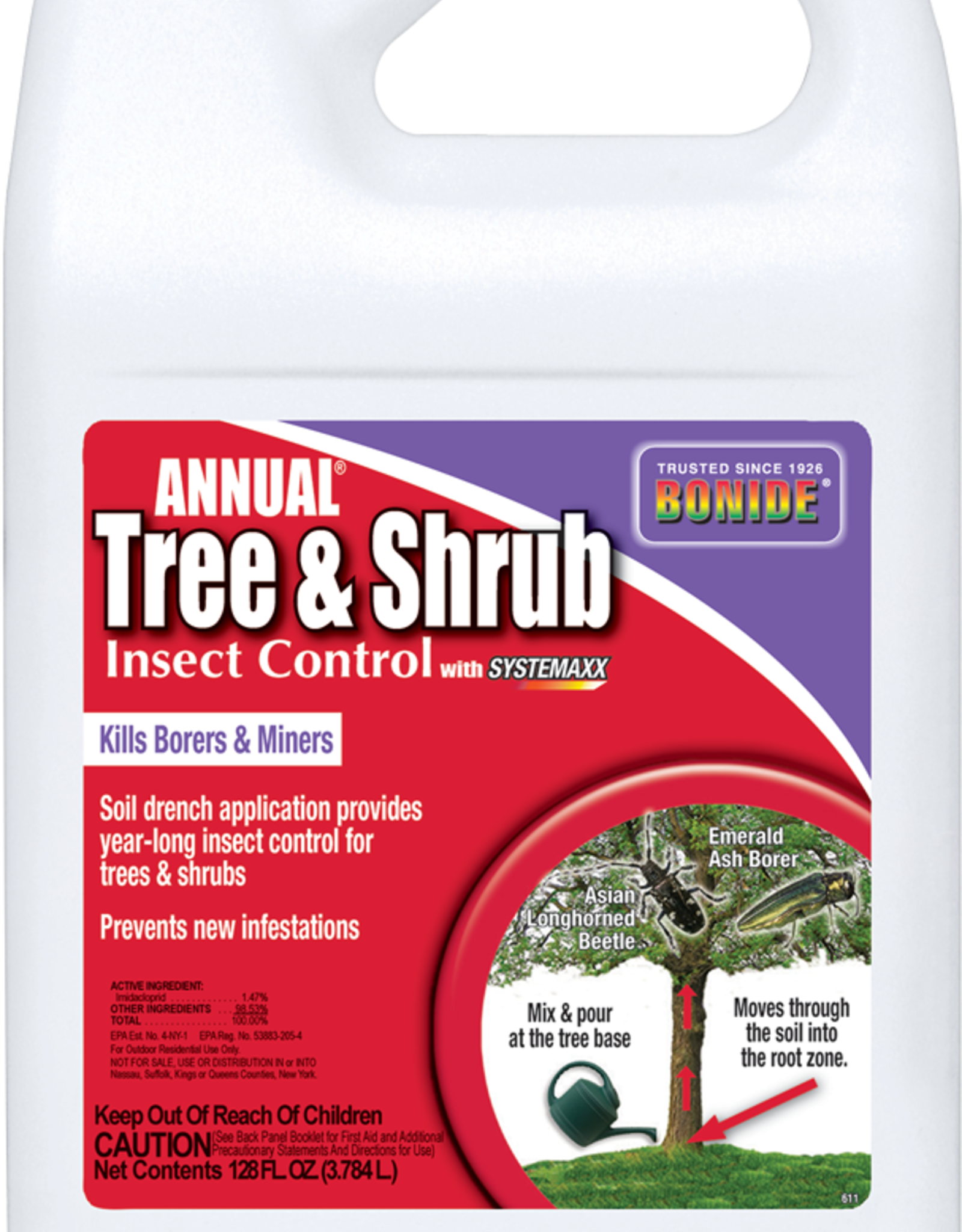 BONIDE PRODUCTS INC     P BONIDE ANNUAL TREE & SHRUB CONC GAL