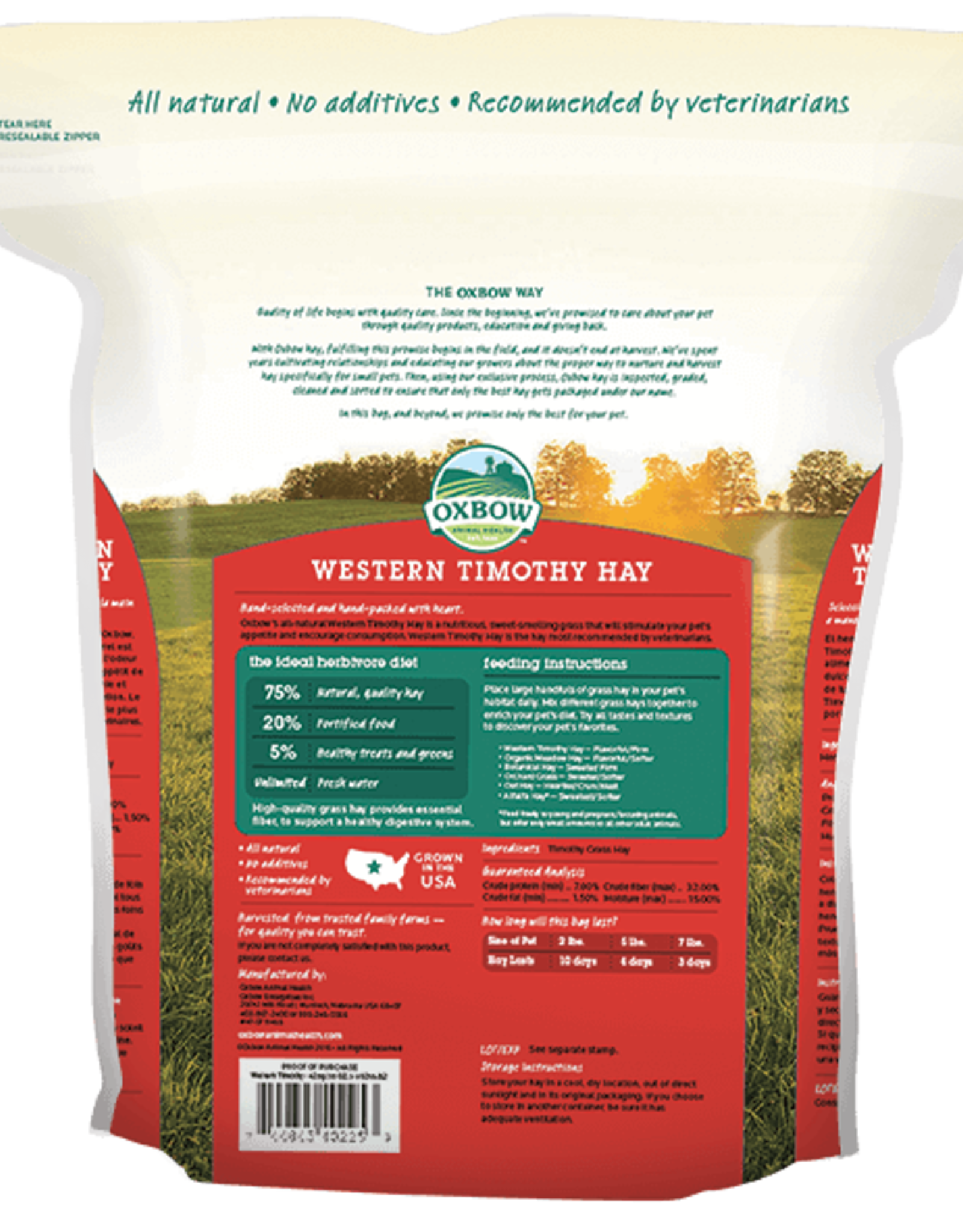 OXBOW PET PRODUCTS OXBOW TIMOTHY HAY 50LBS