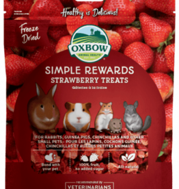 OXBOW PET PRODUCTS OXBOW SIMPLE REWARD STRAWBERRY TREATS .5OZ