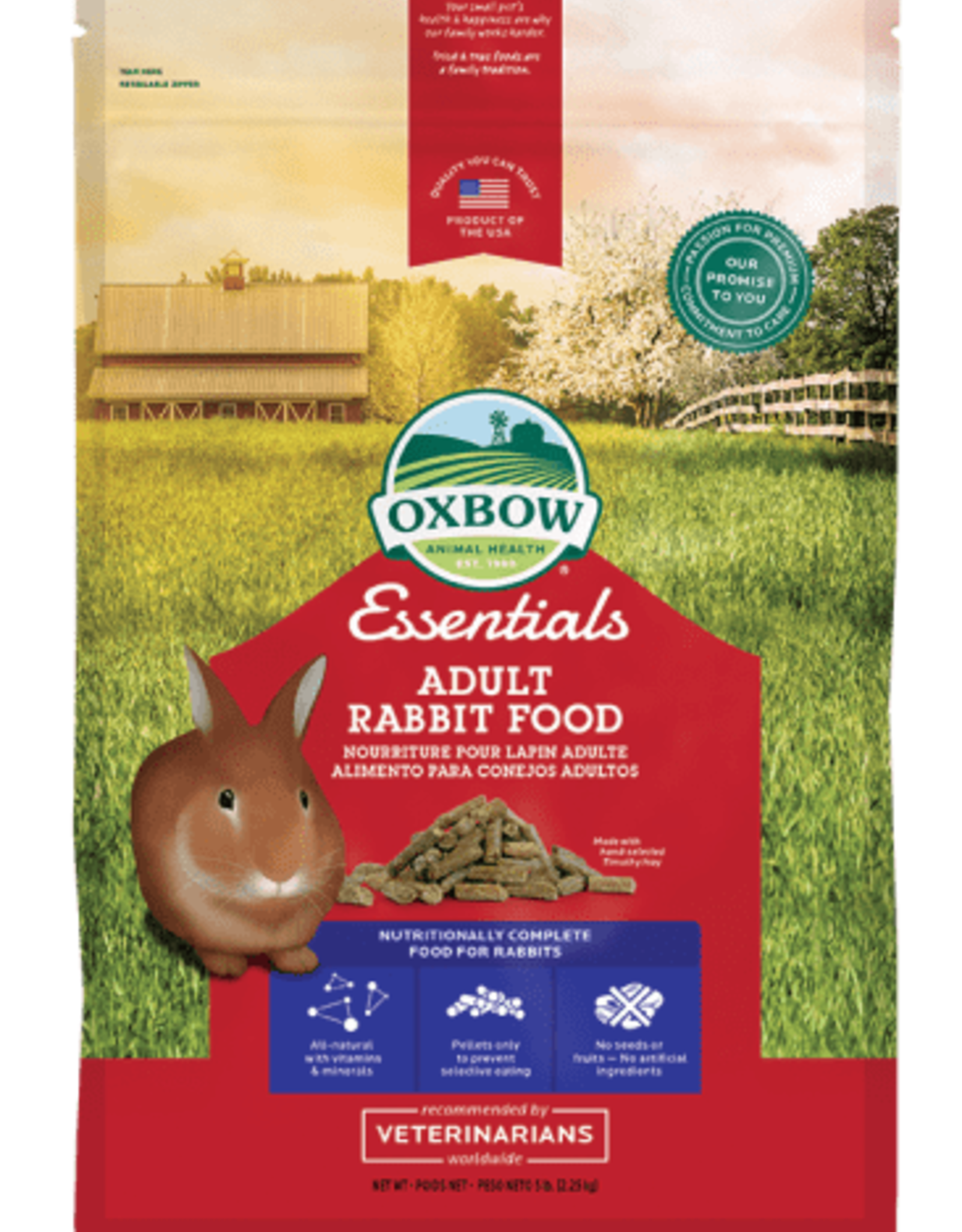 OXBOW PET PRODUCTS OXBOW ADULT RABBIT 5LBS