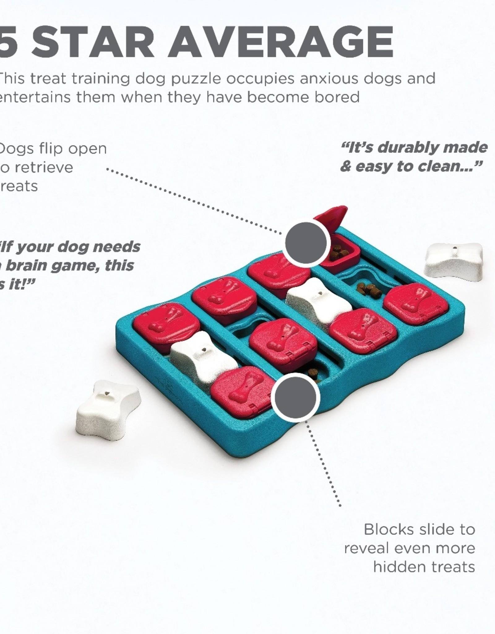 OUTWARD HOUND DOG PUZZLE BRICKS & BONES BLUE
