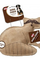 ETHICAL PRODUCTS, INC. DOG TOY DURA FUSED LEATHER RACCOON SMALL