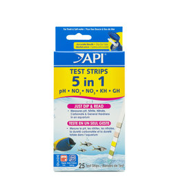 MARS FISHCARE NORTH AMERICA IN API TEST STRIP 5 IN 1,  25 COUNT
