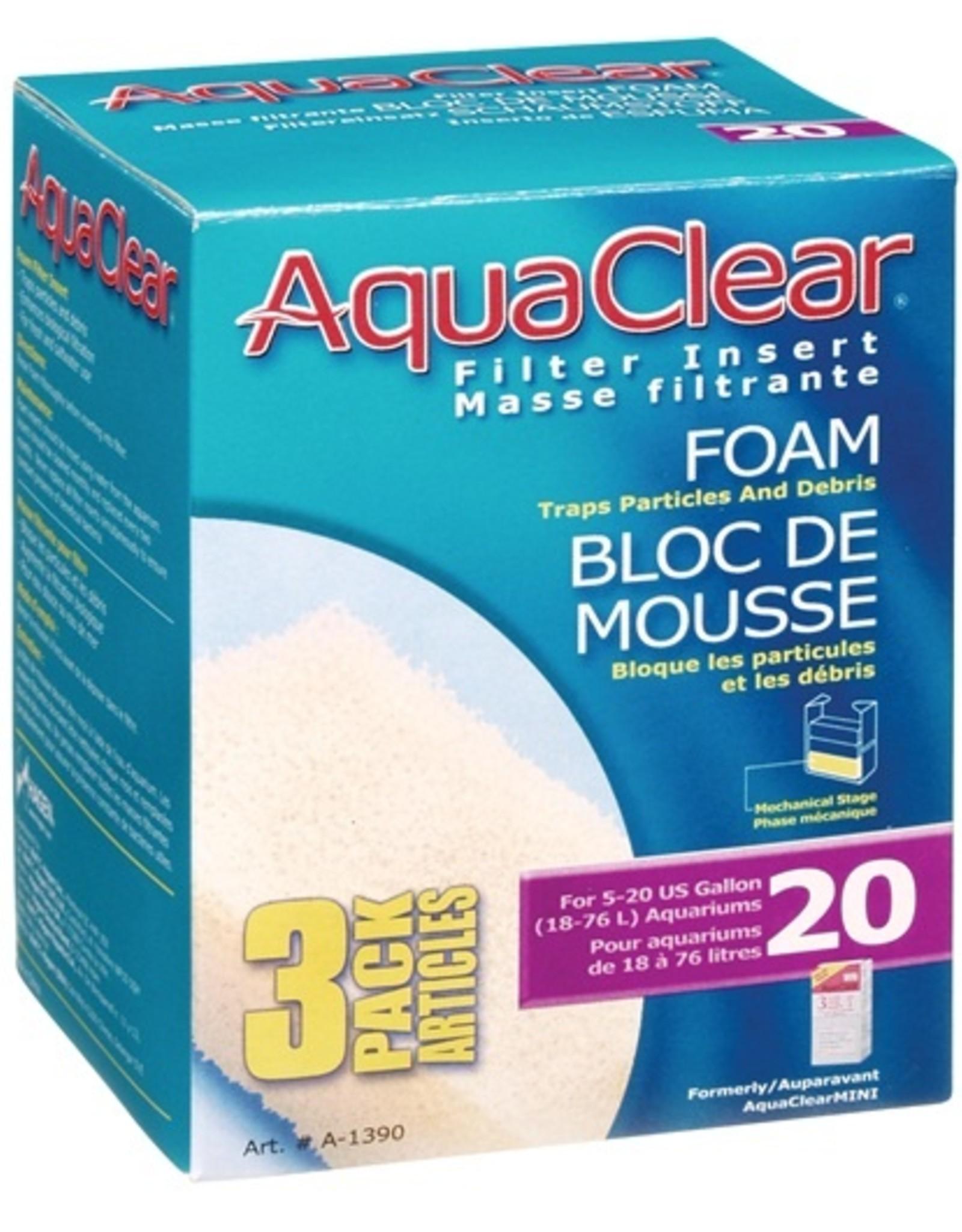 HAGEN AQUA CLEAR 20 (MINI) 3PK FOAM
