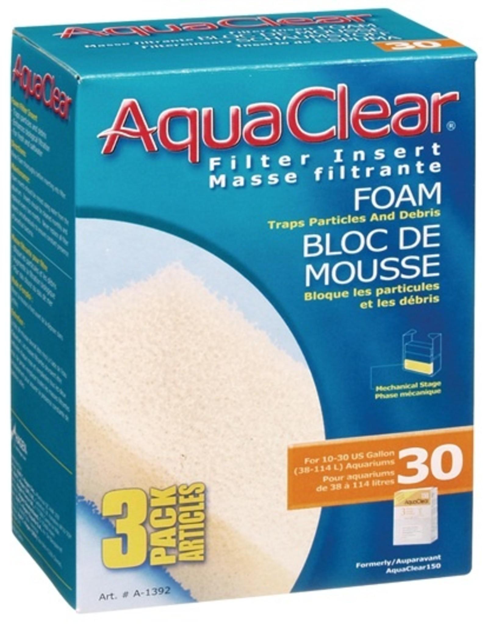 HAGEN AQUA CLEAR 30 3PK FOAM