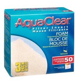 HAGEN AQUA CLEAR 50 3PK FOAM