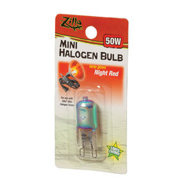 ZILLA ZILLA MINI HALOGEN BULB RED 50W