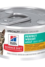 SCIENCE DIET HILL'S SCIENCE DIET FELINE ADULT PERFECT WEIGHT  VEGETABLE & CHICKEN 2.9OZ CASE OF 24