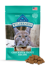 BLUE BUFFALO COMPANY BLUE WILDERNESS CAT TREAT CHICKEN & TROUT 2OZ