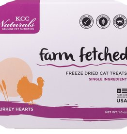 KCC NATURAL FARMS LLC FARM FETCHED TURKEY HEARTS 1OZ