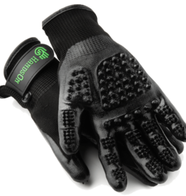 HANDS ON EQUINE HANDS ON GROOMING  GLOVES SMALL BLK