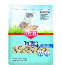 KAYTEE PRODUCTS INC KAYTEE FORTI-DIET PRO HEALTH MOUSE RAT & HAMSTER 3LBS