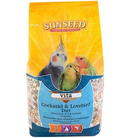 VITAKRAFT SUN SEED, INC. SUNSEED VITA COCKATIEL & LOVEBIRD 5LBS