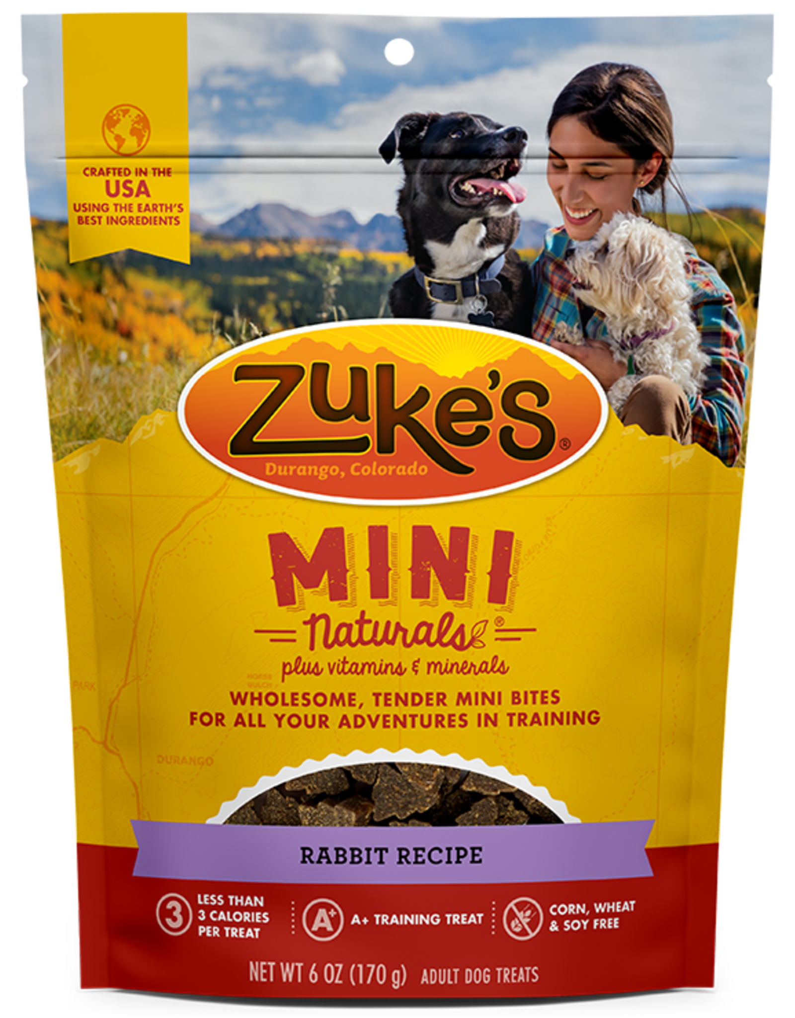 ZUKES MINI NATURALS WILD RABBIT TREATS 1LB
