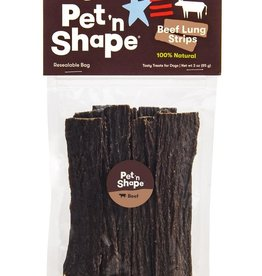 PET 'N SHAPE BEEF LUNG STRIP 3OZ