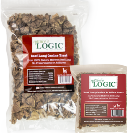 NATURE'S LOGIC NATURE'S LOGIC BEEF LUNG TREAT 1LB