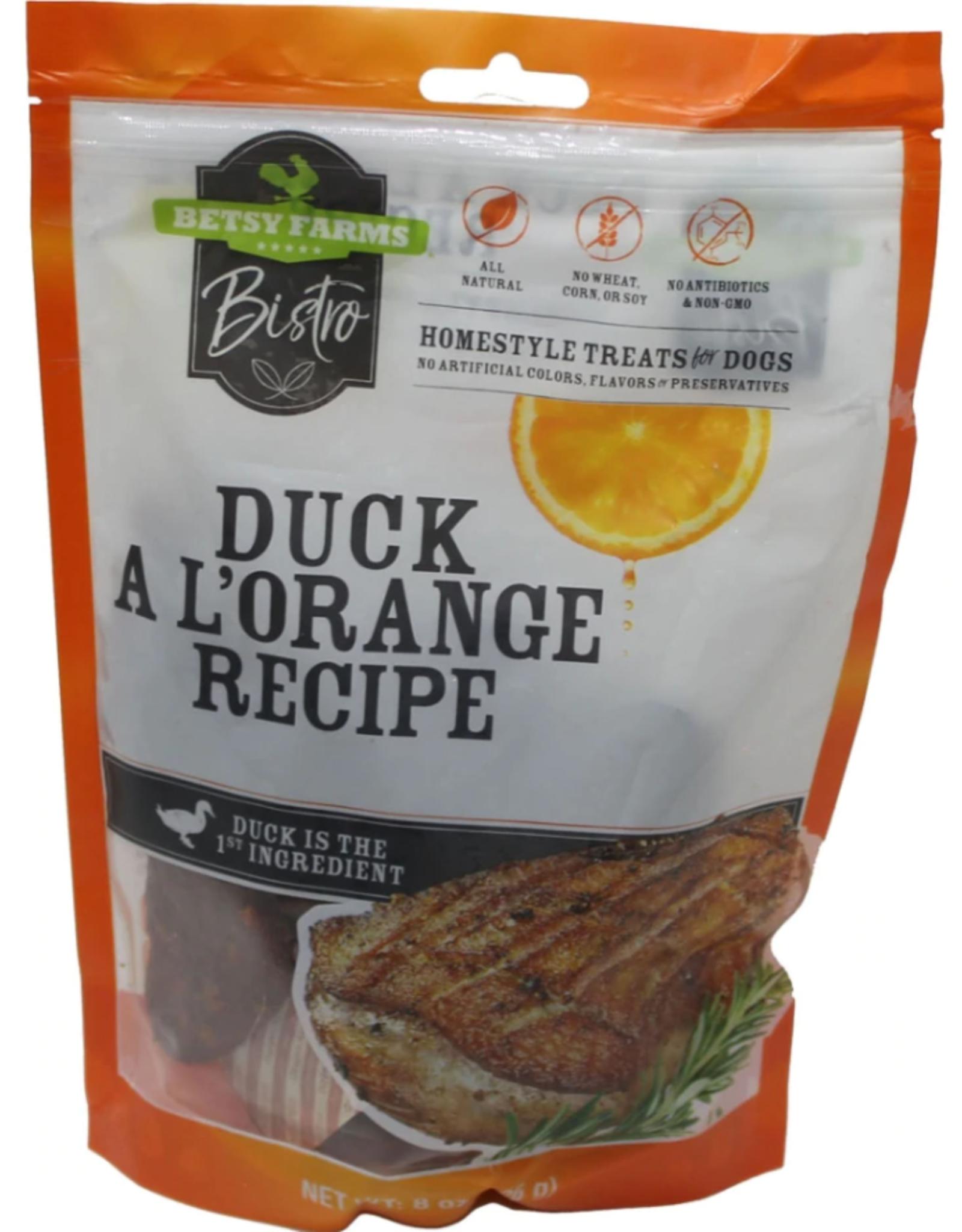 BETSY FARM BISTRO DUCK A L' ORANGE 3OZ discontinued pvff
