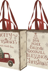 PRIMITIVES BY KATHY MARKET TOTE - MERRY CHRISTMAS