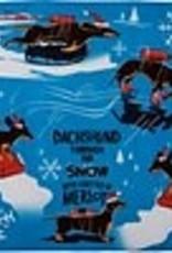 PRIMITIVES BY KATHY DISH TOWEL - DACHSHUND THRU SNOW