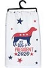 PRIMITIVES BY KATHY DISH TOWEL - MY DOG 2020
