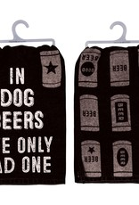 PRIMITIVES BY KATHY DISH TOWEL - IN DOG BEERS