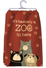 PRIMITIVES BY KATHY DISH TOWEL - ZOO IN HERE