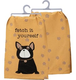 PRIMITIVES BY KATHY DISH TOWEL - FETCH IT YOURSELF