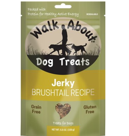 WALK ABOUT BRUSHTAIL DOG JERKY 5.5OZ